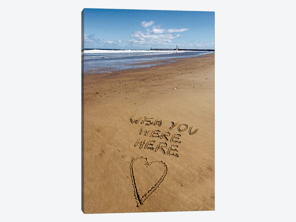 Beach Writing Wish by Tom Quartermaine 1-piece Canvas Artwork