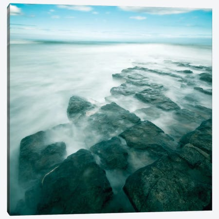 Blue Seascape I Canvas Print #TQU63} by Tom Quartermaine Canvas Wall Art