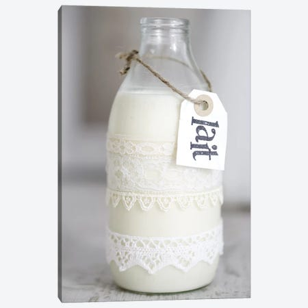 Bottle Of Milk With 'Lait' Sign Canvas Print #TQU66} by Tom Quartermaine Canvas Art Print