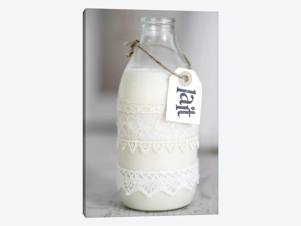 Bottle Of Milk With 'Lait' Sign by Tom Quartermaine 1-piece Art Print