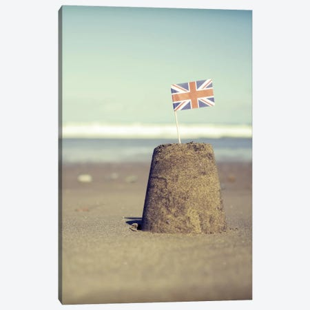 British Sandcastle Canvas Print #TQU68} by Tom Quartermaine Canvas Wall Art