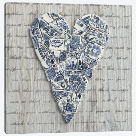 Ceramic Heart I Canvas Print #TQU70} by Tom Quartermaine Canvas Print