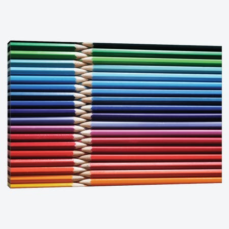 Coloured Pencils II Canvas Print #TQU83} by Tom Quartermaine Canvas Artwork