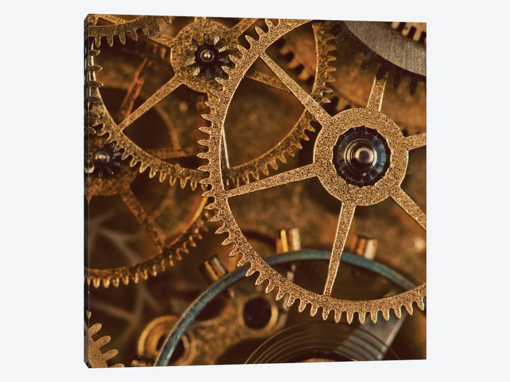 Copper Cogs Close-Up I by Tom Quartermaine 1-piece Canvas Artwork