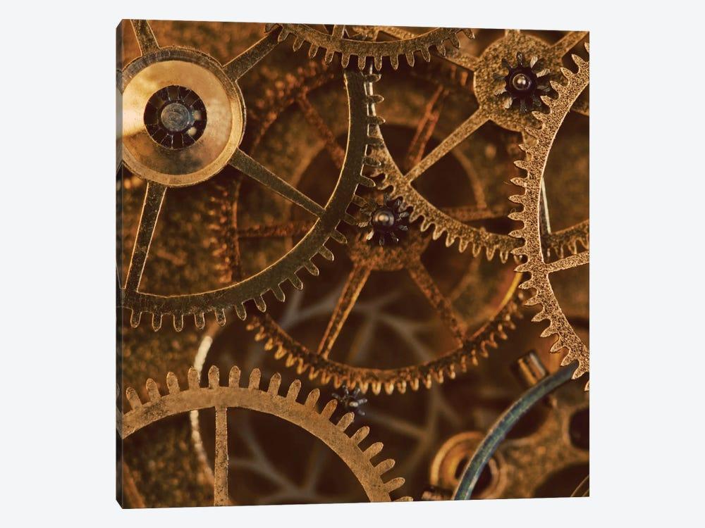 Copper Cogs Close-Up II by Tom Quartermaine 1-piece Canvas Art Print