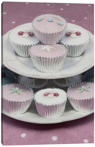 Fairy Cakes On Cake Stand Canvas Art Print