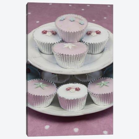 Fairy Cakes On Cake Stand Canvas Print #TQU93} by Tom Quartermaine Canvas Art Print
