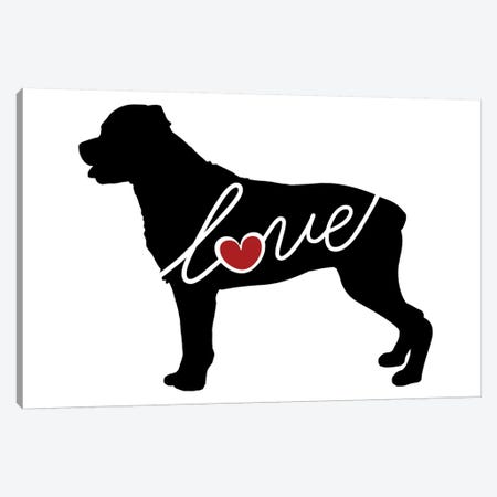 Rottweiler Canvas Print #TRA100} by Traci Anderson Canvas Artwork