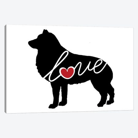 Schipperke Canvas Print #TRA103} by Traci Anderson Canvas Art