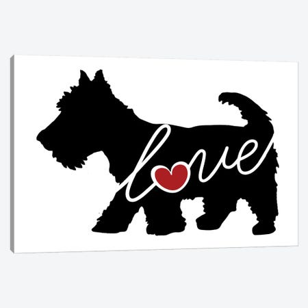 Scottish Terrier Canvas Print #TRA105} by Traci Anderson Art Print