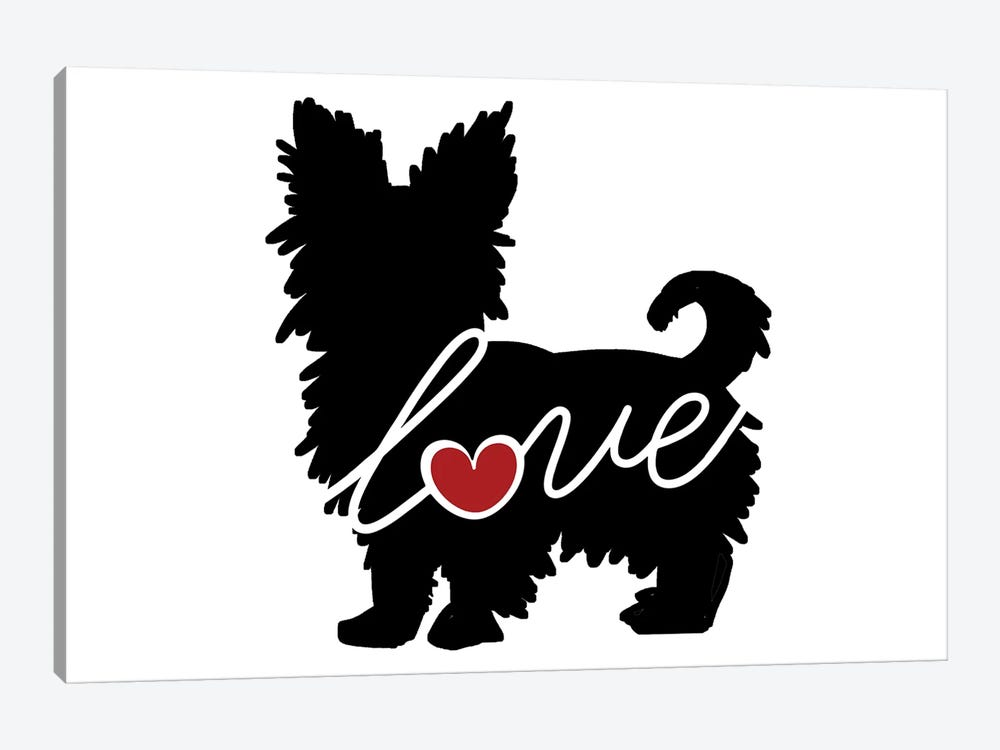 Short Haired Yorkie by Traci Anderson 1-piece Canvas Print