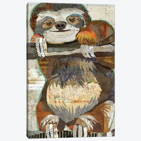 Sloth Canvas Print #TRA112} by Traci Anderson Canvas Art Print