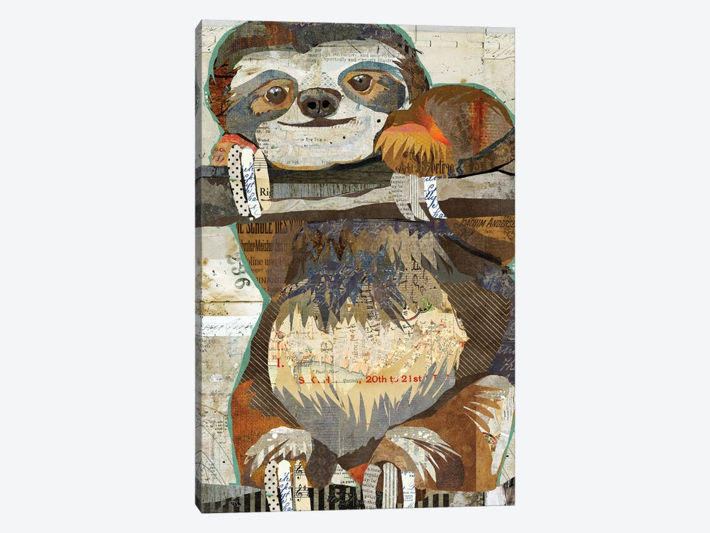 Sloth by Traci Anderson 1-piece Canvas Wall Art