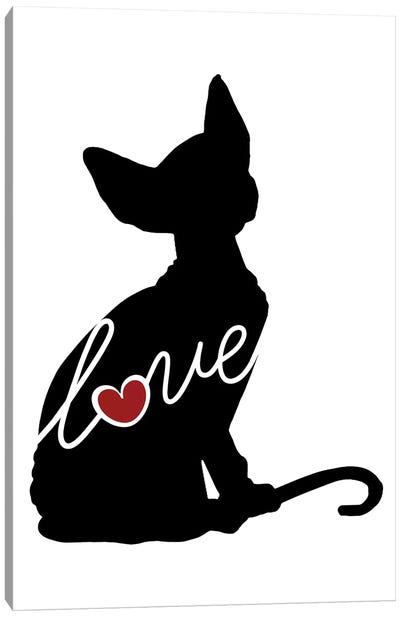 Sphynx Cat Canvas Art Print