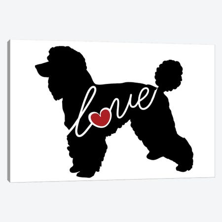 Standard Poodle Canvas Print #TRA117} by Traci Anderson Canvas Art