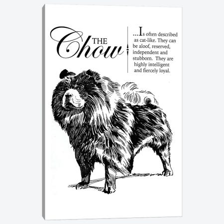 Vintage Chow Storybook Style Canvas Print #TRA124} by Traci Anderson Canvas Print