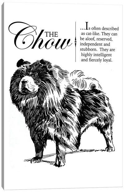 Vintage Chow Storybook Style Canvas Art Print