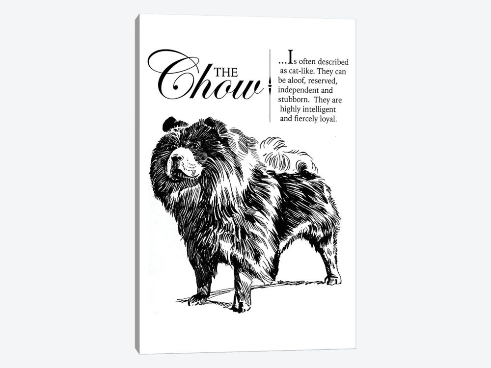 Vintage Chow Storybook Style by Traci Anderson 1-piece Art Print