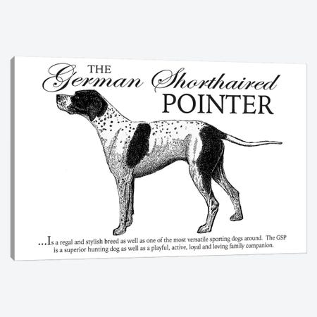 Vintage German Shorthaired Pointer Storybook Style Canvas Print #TRA128} by Traci Anderson Canvas Art