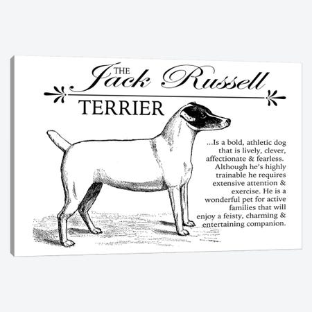 Vintage Jack Russell Storybook Style Canvas Print #TRA132} by Traci Anderson Art Print
