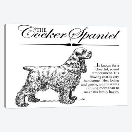 Vintage Storybook Style Cocker Spaniel Canvas Print #TRA139} by Traci Anderson Canvas Art Print