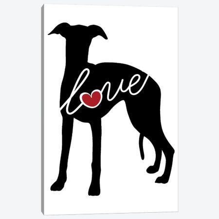 Whippet Canvas Print #TRA147} by Traci Anderson Canvas Art Print