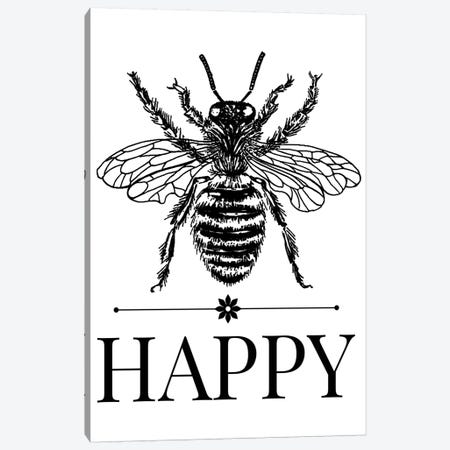 Bee Happy Vintage Art Canvas Print #TRA14} by Traci Anderson Canvas Wall Art
