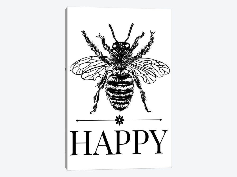 Bee Happy Vintage Art by Traci Anderson 1-piece Canvas Artwork