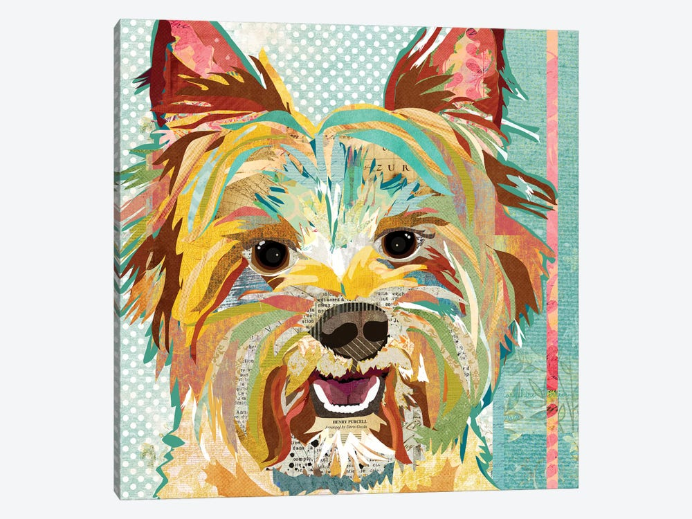 Yorkie by Traci Anderson 1-piece Canvas Art Print
