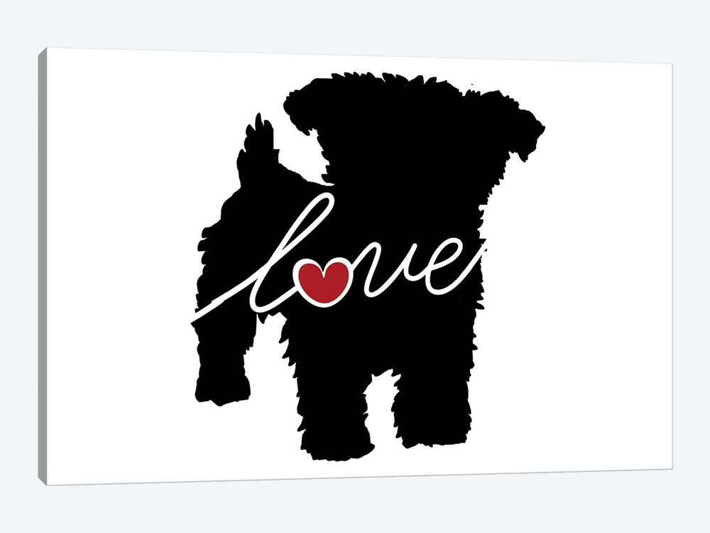 Yorkiepoo by Traci Anderson 1-piece Canvas Artwork