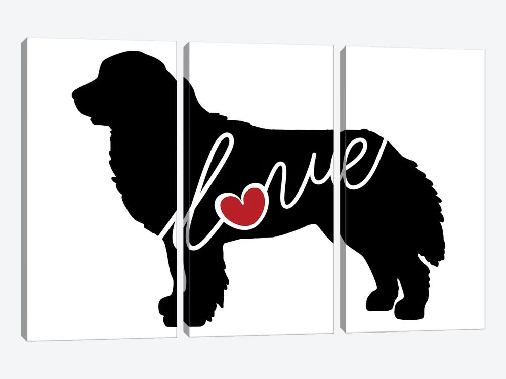 Bernese Mountain Dog by Traci Anderson 3-piece Canvas Artwork