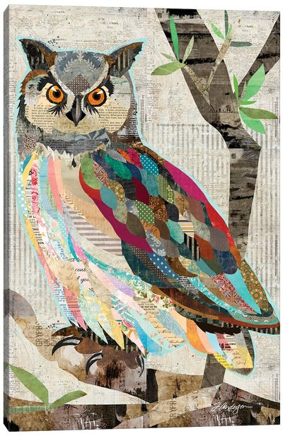 Owl Watch Over You Canvas Art Print