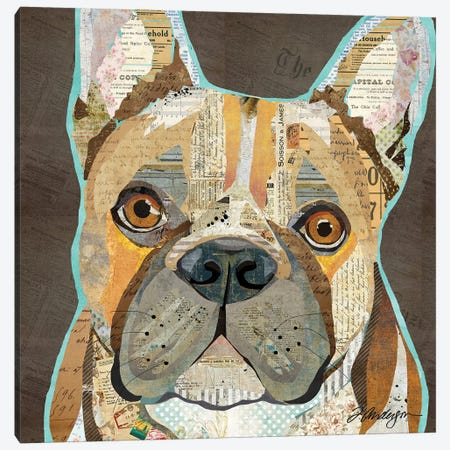 Collage French Bulldog Canvas Print #TRA180} by Traci Anderson Canvas Art