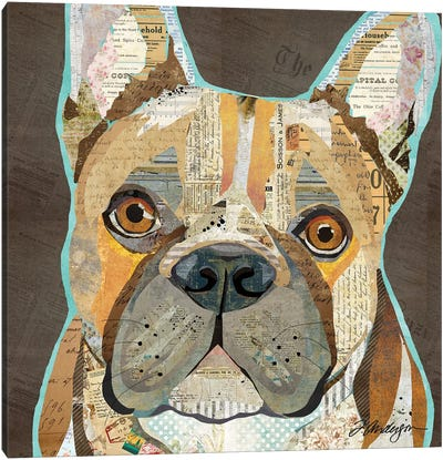 Collage French Bulldog Canvas Art Print