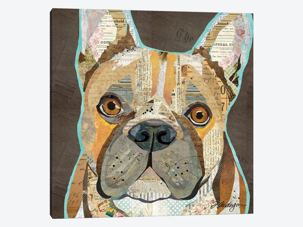 Collage French Bulldog by Traci Anderson 1-piece Art Print
