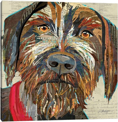 Collage German Wirehaired Pointer Canvas Art Print