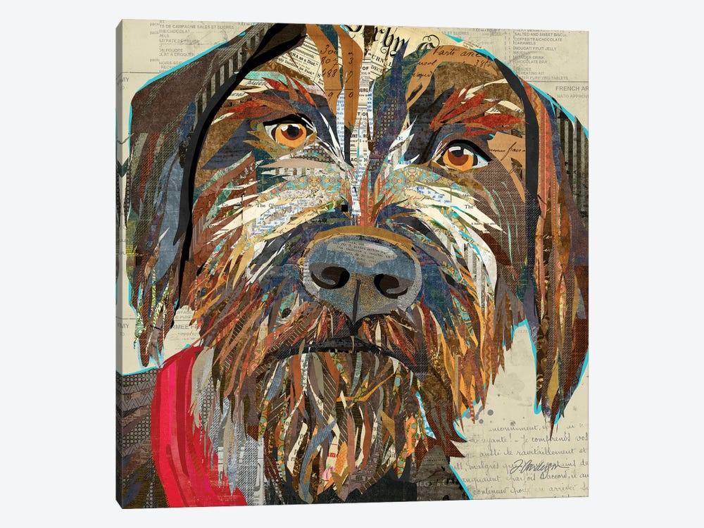 Collage German Wirehaired Pointer by Traci Anderson 1-piece Canvas Print