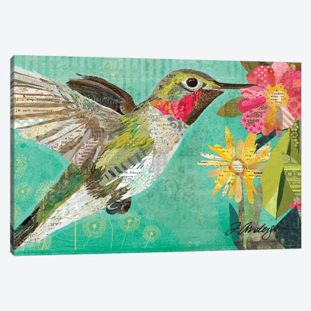 Mom's Hummingbird Collaged Canvas Print #TRA185} by Traci Anderson Canvas Art Print
