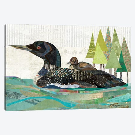 Avon Lake Loons Canvas Print #TRA188} by Traci Anderson Canvas Wall Art