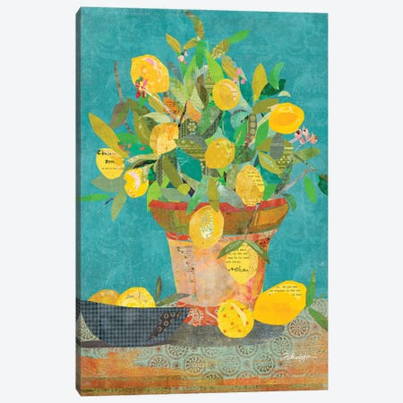 Potted Sunshine Canvas Print #TRA189} by Traci Anderson Canvas Wall Art