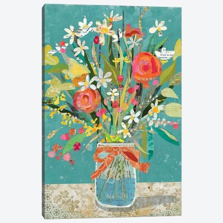 Mason Jar Wildflowers Canvas Print #TRA190} by Traci Anderson Canvas Art Print
