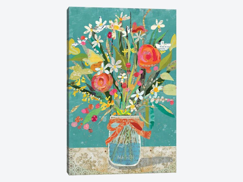 Mason Jar Wildflowers by Traci Anderson 1-piece Canvas Wall Art