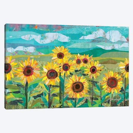 Sunflowers At Dusk Canvas Print #TRA191} by Traci Anderson Art Print