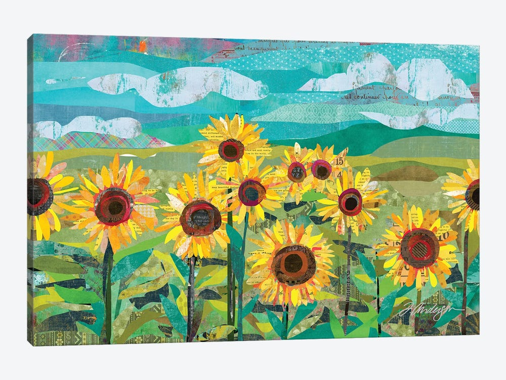Sunflowers At Dusk by Traci Anderson 1-piece Canvas Art Print