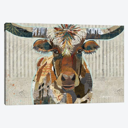 Speckled Texas Longhorn Canvas Print #TRA193} by Traci Anderson Canvas Print