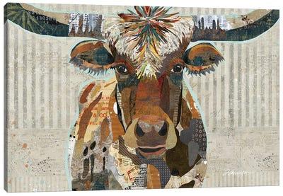 Speckled Texas Longhorn Canvas Art Print