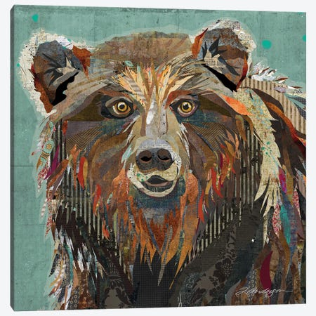Majestic Montana Grizzly Bear Canvas Print #TRA194} by Traci Anderson Canvas Artwork