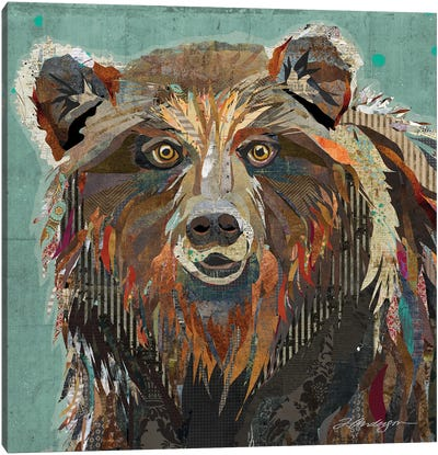 Majestic Montana Grizzly Bear Canvas Art Print