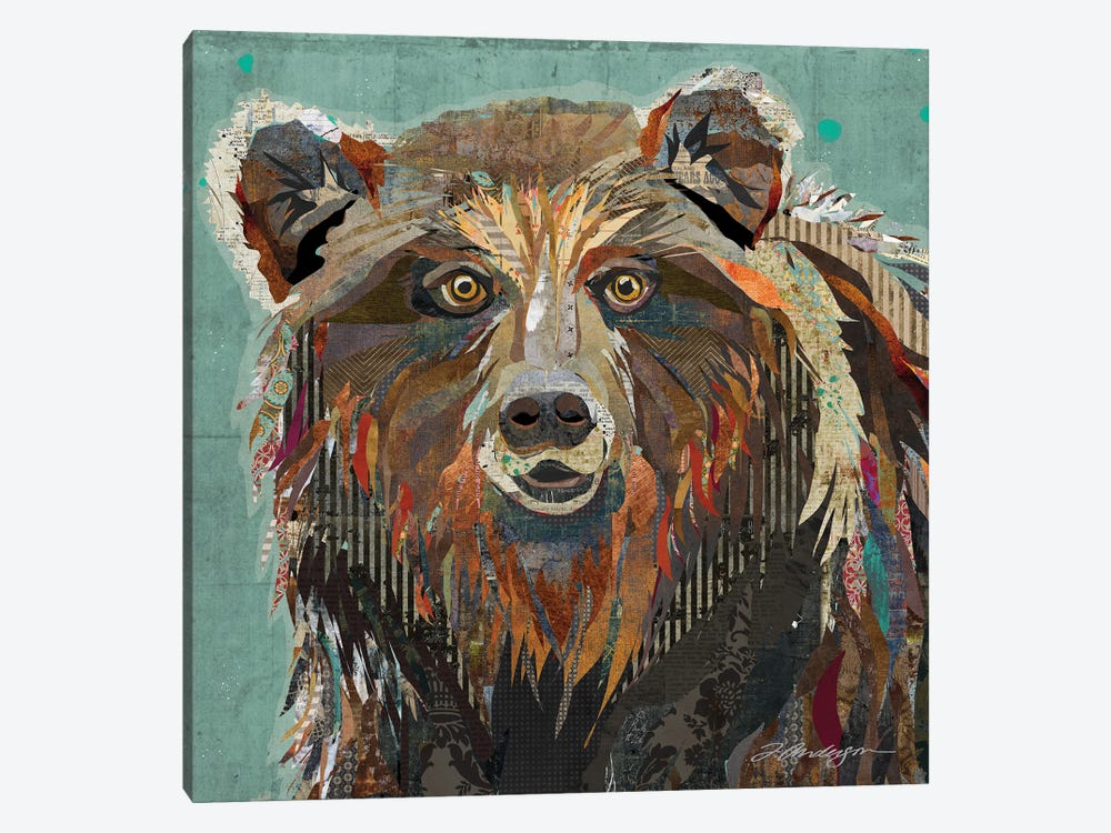 Majestic Montana Grizzly Bear by Traci Anderson 1-piece Canvas Artwork