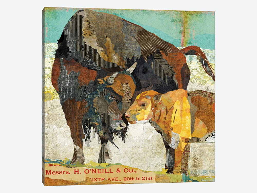 Bison And Calf by Traci Anderson 1-piece Canvas Art